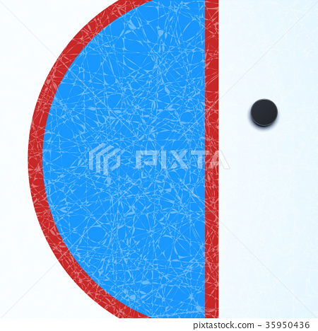 hockey surface with puck 35950436