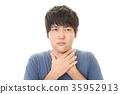 감기에 걸린 남성 35952913