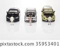 자동차,비즈니스맨,비즈니스우먼,모형 35953401