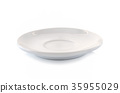 white dish close up isolated 35955029