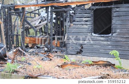 Christmas lights house fire. 35955212