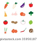 vegetable color icons set vector 35956187