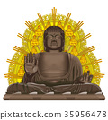 Big Buddha image of tourist destination Nara 35956478