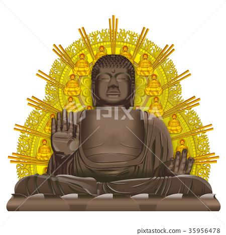 旅游目的地奈良的大菩萨图象 35956478
