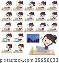 school girl Sailor suit_desk work 35958033