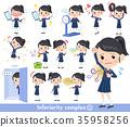 school girl Sailor suit_complex 35958256