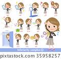 Short hair black high necked women_complex 35958257