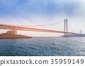 Akashi longest suspension bridge  35959149