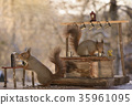 squirrels with a bar and Slot Machine 35961095