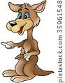 Brown Kangaroo Pointing 35961548