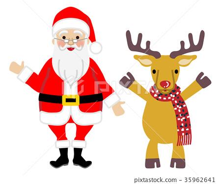 santa clau, santum, reindeer 35962641