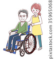 vector, vectors, Wheel Chair 35965068