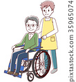 vector, vectors, Wheel Chair 35965074