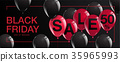 Black Friday Sale Poster with Shiny Balloons 35965993