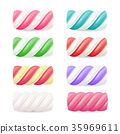 Realistic Marshmallow Candy Vector.  35969611