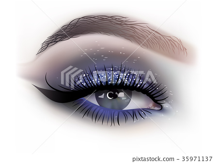 Fashion Woman Eye Makeup 35971137