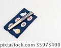 日本扇子 擦手巾 折扇 35973400