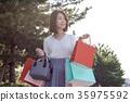 成熟的女人 一個年輕成年女性 女生 35975592