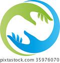 Two hands, helper, team, logo 35976070