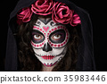 headshot of skull face 35983446