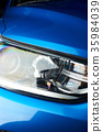 Close-up of new car headlight 35984039