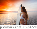 女人 女性 冲浪板 35984729