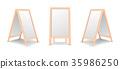 Realistic special menu announcement board icon set 35986250