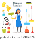 cleaning service woman character 35987076
