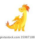cute yellow dragon 35987188