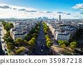 skyline of Paris, France 35987218