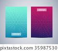 Cover design with hexagonal background 35987530
