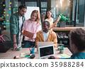 laptop office talk 35988284