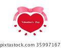 วาเลนไทน์,หัวใจ,ริบบิ้น 35997167