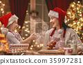 cooking Christmas cookies 35997281