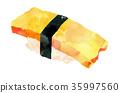 壽司 蛋 食物 35997560