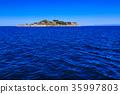 Gunkanjima and blue sky Gunkanjima cruise 35997803