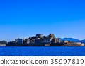 Gunkanjima and blue sky Gunkanjima cruise 35997819