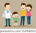 family visiting the doctor 35998093
