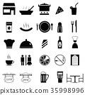 restaurant, icon, icons 35998996