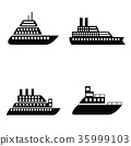Ship and boat icon set 35999103