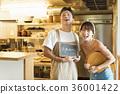 레스토랑 요리사와 웨이터 36001422