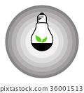 leaf bulb logo in shades of gray circle background 36001513
