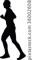 runner silhouette. run vector 36002608
