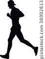 runner silhouette. run vector 36002613