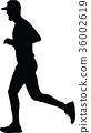 runner silhouette. run vector 36002619