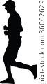 runner, silhouette, vector 36002629
