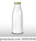 milk bottle vector 36002646