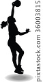 volleyball woman player silhouette 36003815