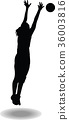 volleyball woman player silhouette 36003816