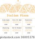 pizza, italian, menu 36005376